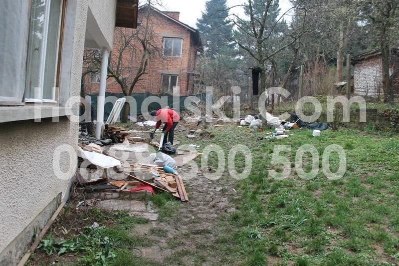 Почистване на дворно място в София